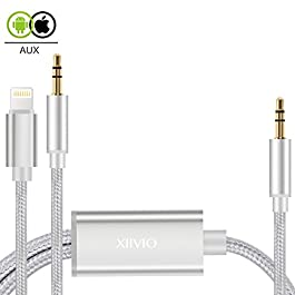 Aux Cable Compatible with Phone 7 X, XIIVIO 2 in 1 Nylon Braided Aux Cord with 3.5mm Headphone Jack and 3.5mm Audio Adapter Compatible with Phone XS Max/XR/7/8/X/Android Phone to Car Stereo/Speaker