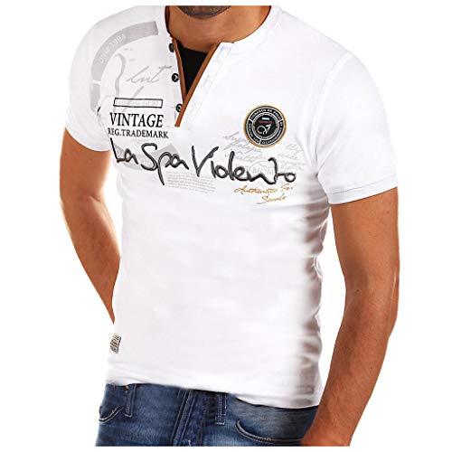 Schwarz Schwarz Schal Kragen Smoking Jacke (Yvelands Herren Mode T-Shirt Buchstabe Knopf Persönlichkeit Hemd Kurzarm Bluse Tops(Weiß3,M))