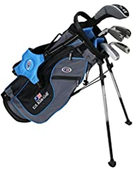 "US Kids Golf Ultralight Series 48"" USKG, 118cm - 125cm, Age/Alter 6-8 years, golf clubs for kids, Golfschläger für Kinder/Jugendliche, Fairway Driver, Iron/Eisen 6,8, Pitching Wedge, Putter, Bag, maximum distance and control, soft feel, lightweight, stainless steel"