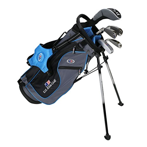 US Kids Kinder Golf Ultralight Set 48, 5 Club Ständer Golf Set mit Tasche (Rechtshand), Grau (Grey/Teal), 121,9 cm-129,5 cm -