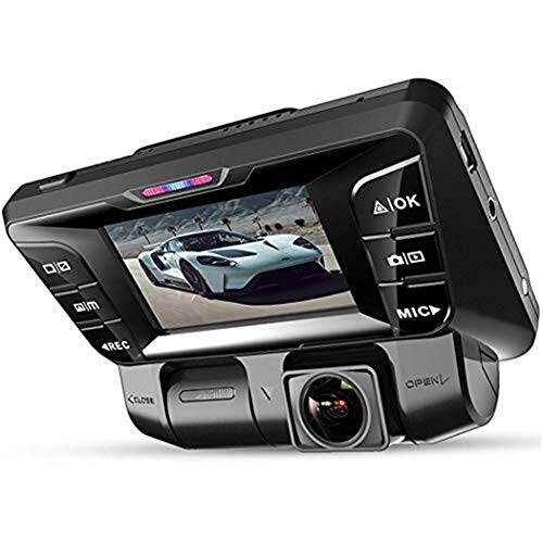 LULUDP Fahrtenschreiber Auto DVR Doppelobjektiv HD Auto DVR Kamera Videorecorder 2,0 Zoll LCD G-Sensor 320 Grad Doppel Kamera Dash Cam - Erfassen Reise-tasche