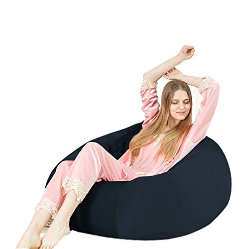 Akuka Sitzsack-Bezug, gefüllte Tier-Aufbewahrung, Organizer, Freizeit, weiche Safa, bequem, für Kinder und Erwachsene, navy, 55x55x38cm