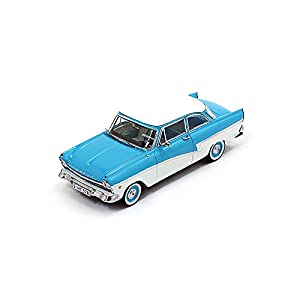 PremiumX 1957 Ford Taunus 17M PRD388, Azul / Blanco, 1:43 Die Cast