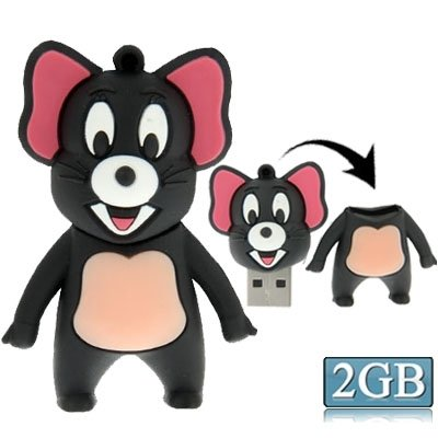 Generic Mouse Style Silicone Usb2. 0 Flash Disk, Special For All Kinds Of Festival Day Gifts, Grey(2gb)