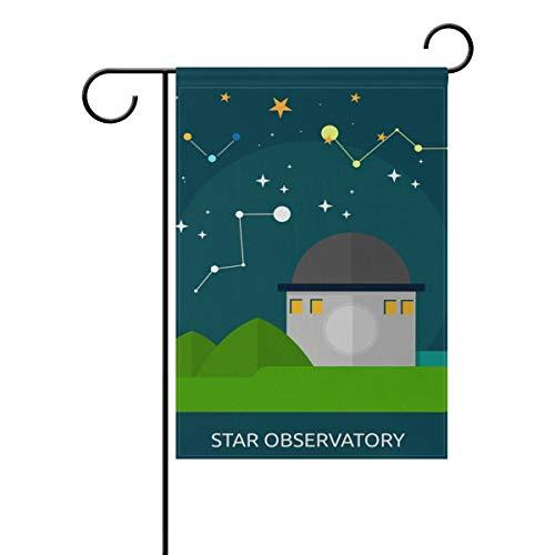 FAJRO Star Observatorium Yard Flaggen Garden Flagge Home Dekorationen Doppelseitig, Polyester, 1, 28x40(in) (Home-observatorium)