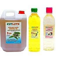 FITLITE Combo Family Pack Sesame Chekku Oil 5 LTR + Groundnut Chekku Oil 0.5 LTR + Coconut Chekku Oil 0.5 LTR