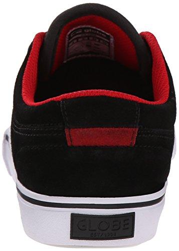 Globe GS Kids Wildleder Skateschuh Black/Red/Suede