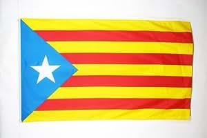 DRAPEAU CATALOGNE ESTELADA 150x90cm - DRAPEAU CATALAN INDÉPENDENTISTE - CATALUÑA 90 x 150 cm - DRAPEAUX - AZ FLAG