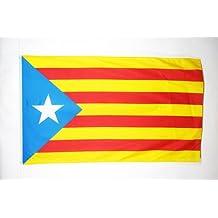 BANDERA de CATALUÑA ESTELADA BLAVA 150x90cm - BANDERA CATALANA INDEPENDENTISTA – CATALUNYA 90 x 150 cm - AZ FLAG
