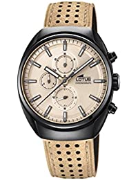 3b75b22c9a69 Lotus Watches Reloj Cronógrafo para Hombre de Cuarzo con Correa en Cuero  18567 1