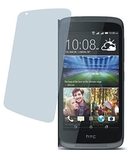 4ProTec HTC Desire 526G Dual SIM (2 Stück) Premium Bildschirmschutzfolie Displayschutzfolie kristallklar Schutzhülle Bildschirmschutz Bildschirmfolie Folie
