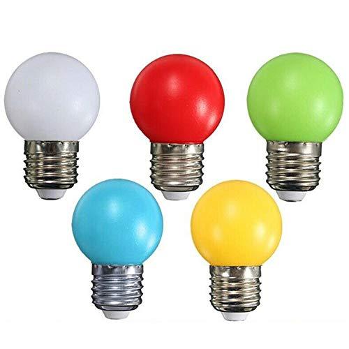 G45 Mini-LED-Leuchtmittel, 1 W, E27-Sockel, mehrfarbig, Weiß, Gelb, Grün, Rot, Blau, für Schlafzimmer, Hochzeit, Halloween, Weihnachten, Party, Bar, Stimmungsdekoration, 6 Stück