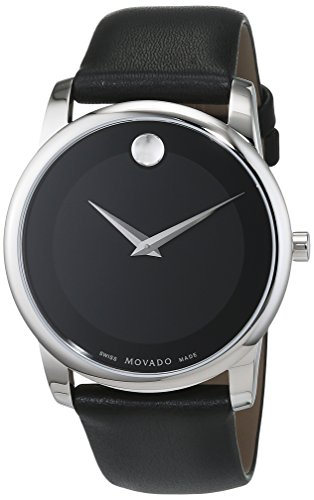 Movado Herren Analogue Quartz Uhr mit Leather Armband 606502 (Movado Uhr Bold)