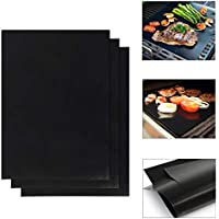 MultiWare 3 x Teflon Non Stick Oven Liner Heavy Duty BBQ Grill Mat For Fan Assisted Ovens 40 x 50cm