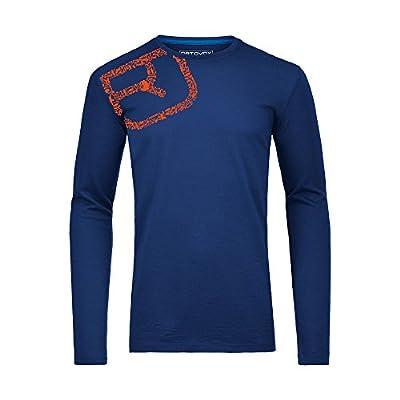 Ortovox Equipment Logo Merino Print Long Sleeve Shirt - strong blue