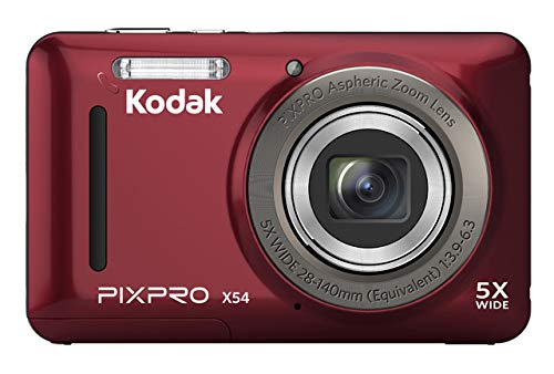 Kodak pixpro x54 - fotocamera digitale compatta, 16 mp, colore: rosso
