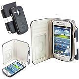 Numia 2in1 Handytasche Galaxy S7 edge SM-G935 Schwarz-Weiss
