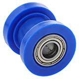 KESOTO Motorrad Kettenfuehrung Kettenrad Kettenspanner Kettenrollenspanner, Blau
