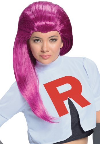 Pokemon Jessie Purple Costume Wig Adult (Jessie Und James Kostüm)