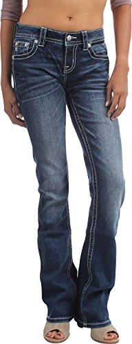 Miss Me Damen Jeans Gr. 55, dunkel (Miss Me Bootcut Jeans)