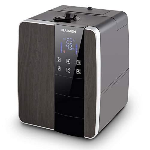 Klarstein Montreal L Humidificador - Ionizador, Humedecedor, Sensor ultrasónico, Función de Calor...