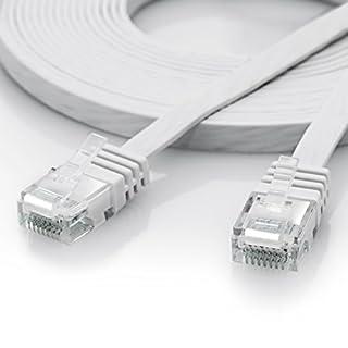 CSL-Computer 5m - CAT.6 Ethernet Gigabit LAN Netzwerkkabel/Flachbandkabel / Verlegekabel (RJ45)   10/100/1000Mbit/s   Patchkabel flach   kompatibel zu CAT.5 / CAT.5e / CAT.7   Switch/Router/Modem