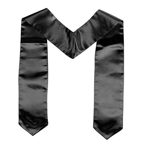 Kostüm Einfache Chor - Amosfun Unisex Adult Plain Graduation Stola für Abschluss Kostüm Set Graduation Party Supplies (schwarz)