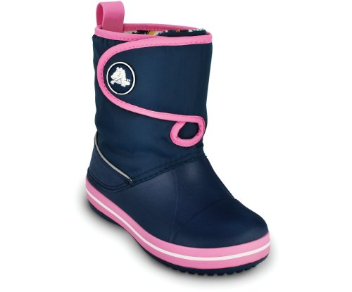 crocs Unisex-Kinder Crocband Gust Stiefel, Blau (Navy/pink), 33/34 -