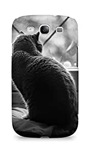 AMEZ designer printed 3d premium high quality back case cover for Samsung Galaxy S3 Neo (out in the window cat)