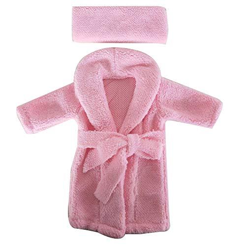Sguan-wu Neugeborenes Baby weichem Plüsch Fotografie Requisiten Schal Bademantel Dusche Kostüm Geschenk - Pink A