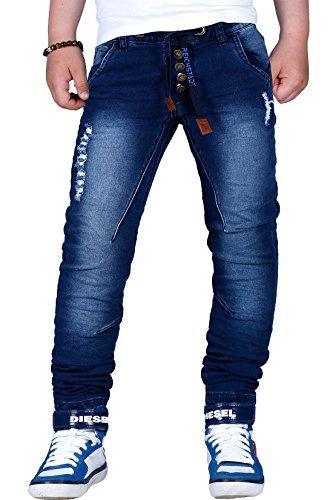 Reichstadt Jungen Kinder Jeans Jogging Denim Hochwertig Wow 6-16 Jahre RS105, Blau, 134/140 -