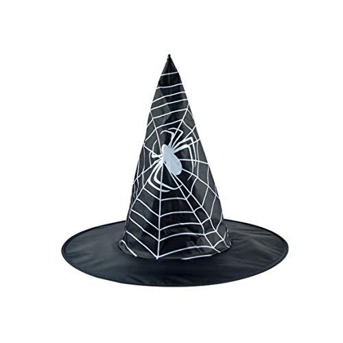 Moonuy Unisex Hexenhut Erwachsene Frauen Schwarze Hexe Hut Für Halloween Kostüm Zubehör Cap Hut
