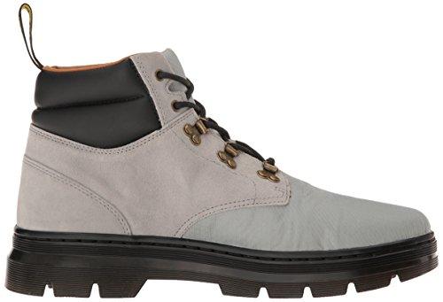 Dr. Martens Unisex-Erwachsene Rakim Biker Boots, Schwarz Grau (Mid Grey Rhombus Nylon Mesh/hi Suede Wp)