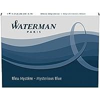Waterman cartuchos de tinta azul/negra permanente de tamaño estándar (paquete de 8)