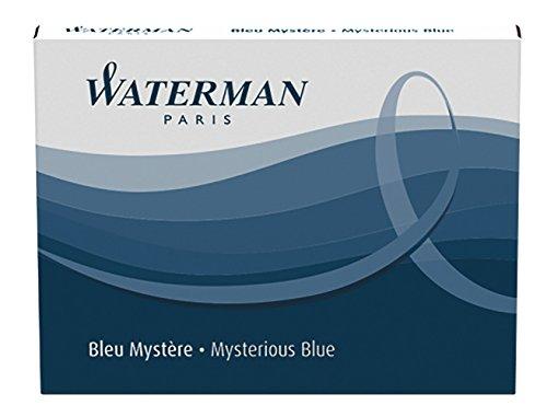 Waterman Tintenpatrone Standard Packung mit 8 Stück Mysterious, blau