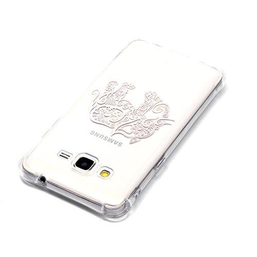 Samsung Galaxy J3 Coque,Samsung Galaxy J3 Gel Motif métallique TPU Case Feeltech Apple iPhone SE Case Silicone Clair Ultra Mince Premium Bumper iPhone 5S Housse Légère Étui Protecteur Transparente Sou Éléphant