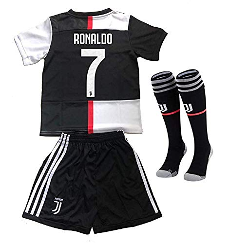 reputable site 69f5e c9238 Soccer Jersey, Kids & Youth 2019 New Season Juventus #7 Cristiano Ronaldo  Soccer Jersey Shorts, Socks (8-10Years/26, Home 2020)