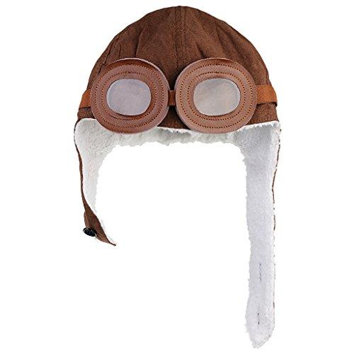 Mütze Fliegermütze Earflap Piloten Cap Hut Beanie (Kleinkind Junge Pilot Kostüm)