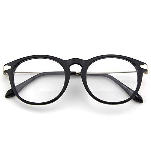 CN88 Klassische Nerdbrille rund Keyhole 40er 50er Jahre Pantobrille Vintage Look clear lens,Matte...