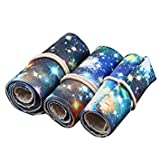 SODIAL(R) Sodialr Canvas Pencil Wrap 72 Colored Pencil Roll Up Travel Drawing Coloring