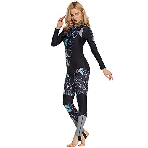 QIMANZI Neoprenanzug Damen Voll Karosserie Tauchen Anzug Sports Skins zum Tauchen Schnorcheln(Schwarz,S)