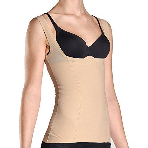 Kasheer ShapeShirt | Damen Shapewear | Figurformendes Unterhemd mit offener Büste für eigenen BH, Haut Gr. 44