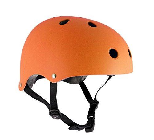sfr-essentials-caschetto-skate-monopattino-bmx-arancione-opaco-fluorescente-49-52cm