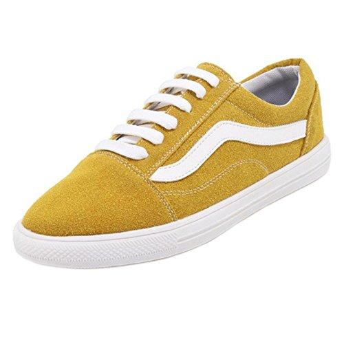 TAOFFEN Donne Moda Skateboard Scarpe Yellow