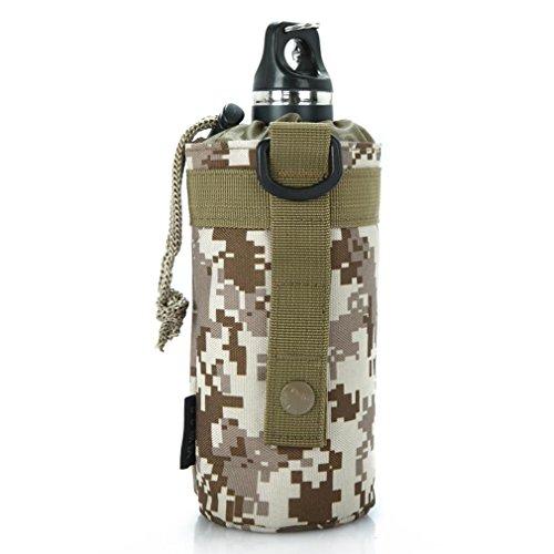 Military Fans Camping Wasser Flasche Taschen / Anhänger Zubehör / Tactical Military Wasser Flasche Beutel im Freien 900D Nylon Molle Kessel Bag Holder (750ml) desert