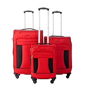 "Travelhouse Super Lightweight 4 Wheel Spinner Luggage Suitcase Travel Trolley Cases 3 Piece Set - 21""/25""/29"""