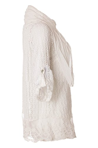 H.Trend - Gilet - Cardigan - Femme Blanc - blanc