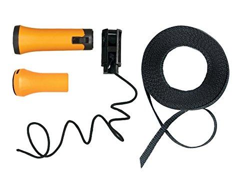 fiskars impugnatura di ricambio e corda originali per svettatoio telescopico fiskars con lame bypass upx82, nero/arancione, 1026297