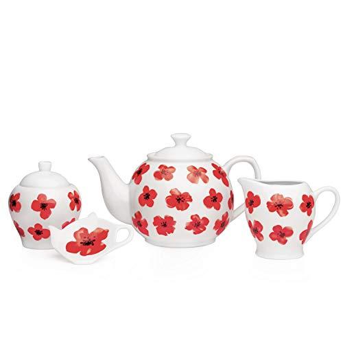 Sabichi 4Spring Poppy Porzellan Tee-Set