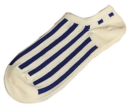Lot de 2 Flag chaussettes en coton chaussettes pour hommes Bleu Blanc